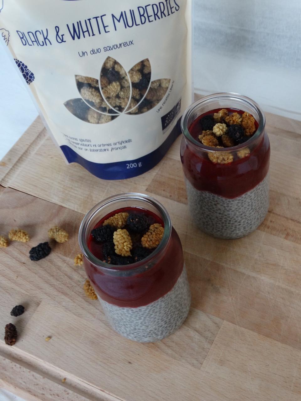 recettes healthy pudding de chia et mulberries Uberti