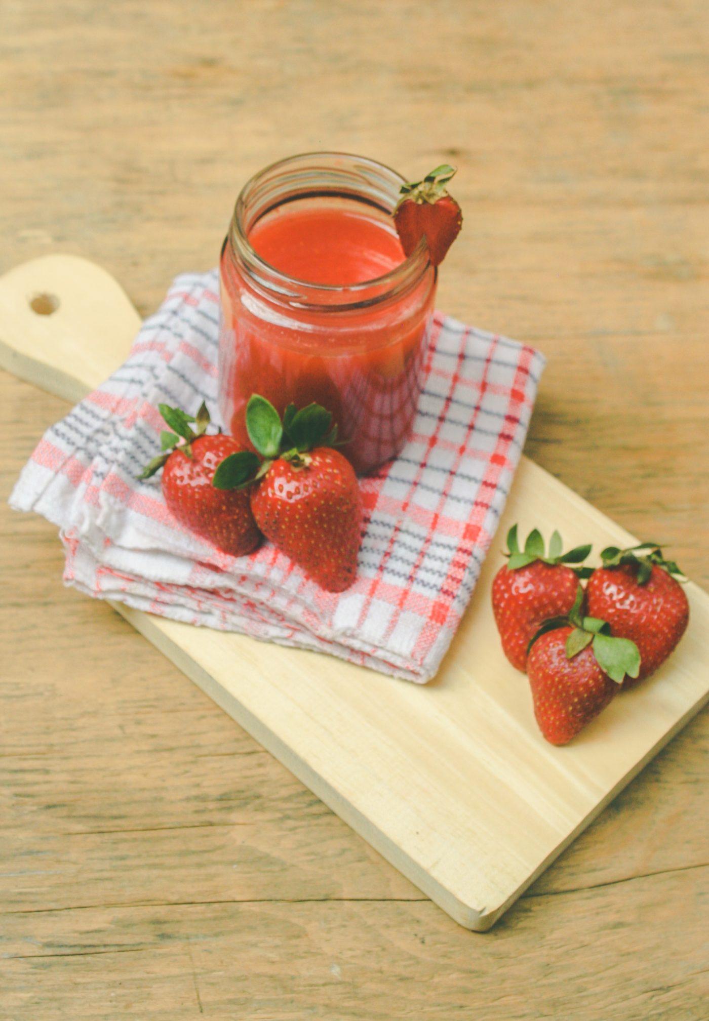 Soupe de fraise mentholée recette healthy Uberti