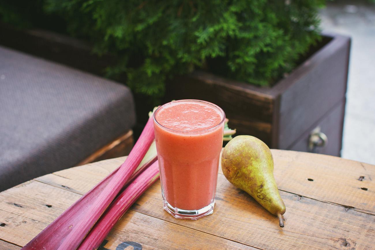 Recette jus de rhubarbe - Uberti recettes healthy