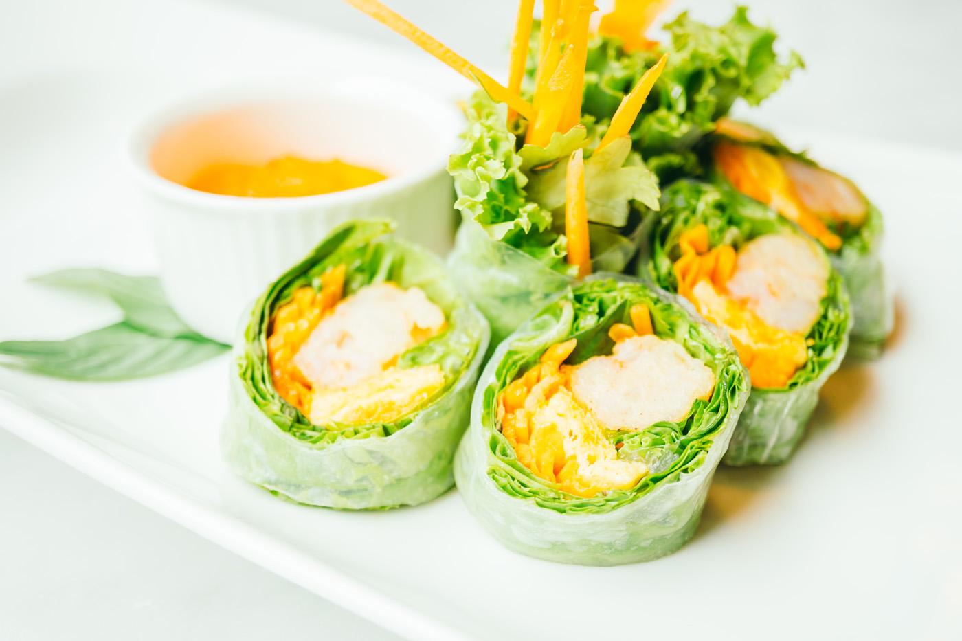 Recette healthy rouleaux de printemps fruits et légumes - Uberti