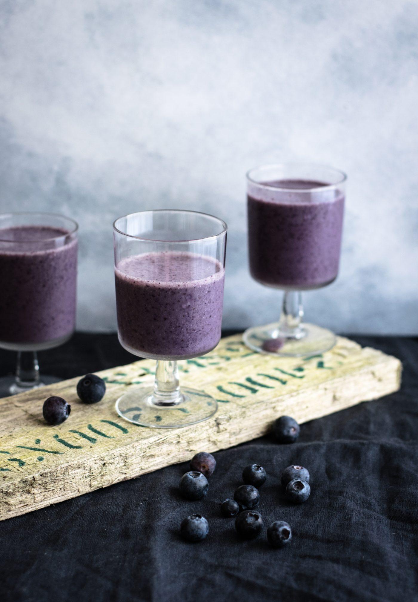 Recette healthy Uberti - Milkshake myrtille