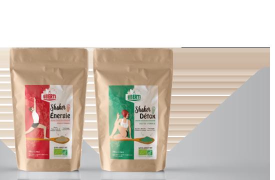 shaker mix de super-aliments en poudre Uberti