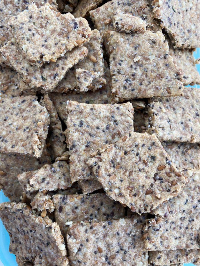recette healthy crackers supergraines Uberti