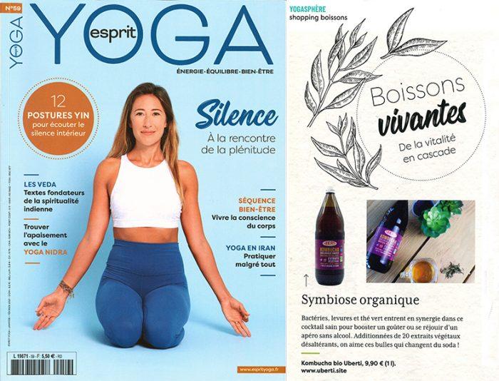 Esprit Yoga parle du Kombucha Uberti