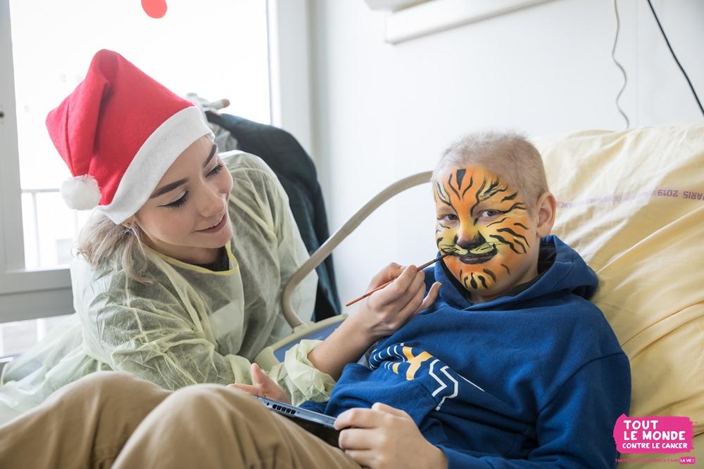 Uberti engagée auprès des enfants maladesa