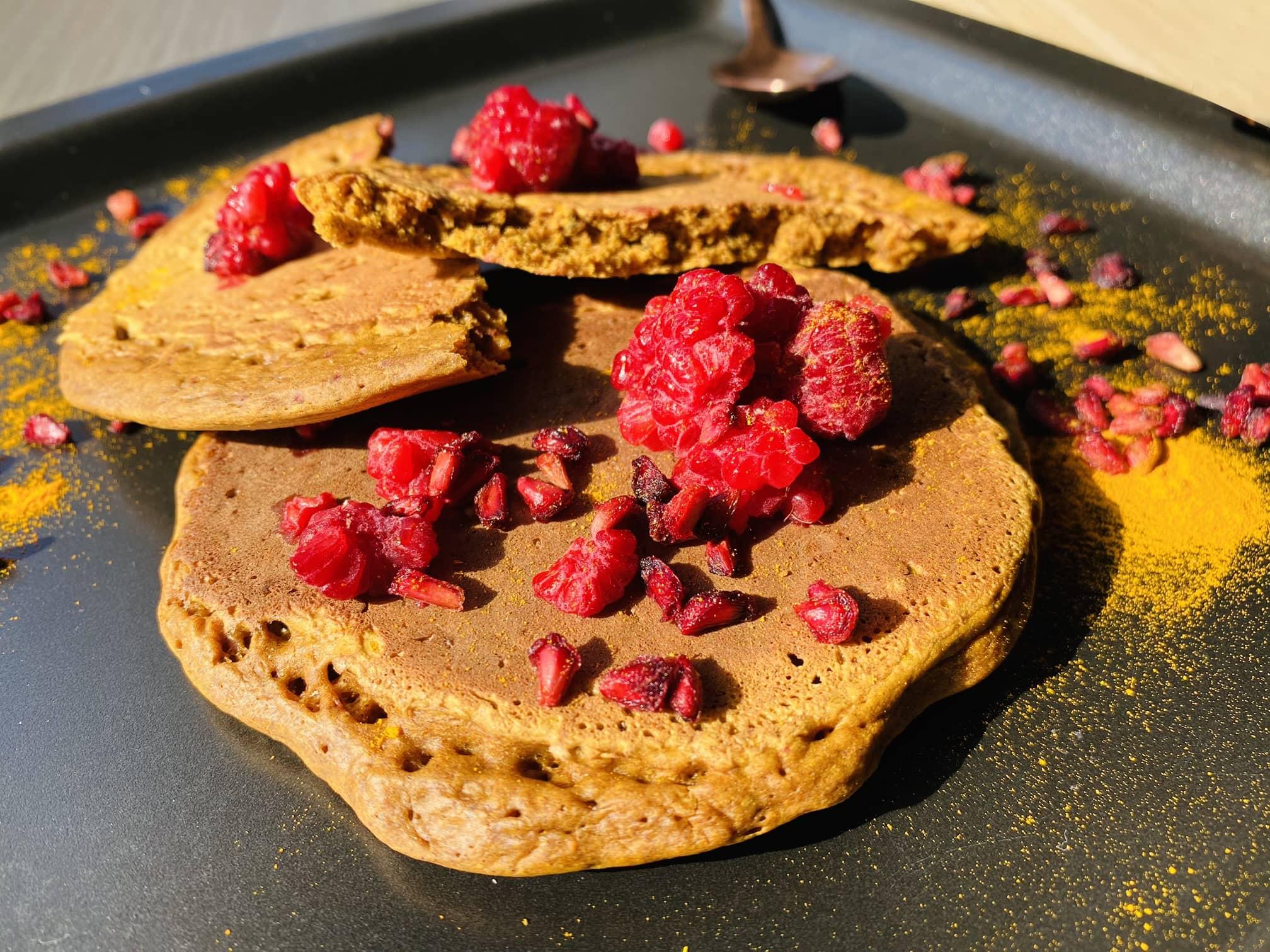 préparation végétale et bio pour pancakes vegan curcuma et cannelle Uberti