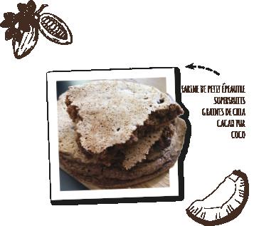 préparation pour pâtisseries végétales et bio pour pancakes vegan cacao et coco Uberti