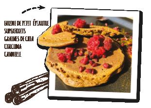 préparation pour pâtisseries végétales et bio pour pancakes vegan curcuma et cannelle Uberti