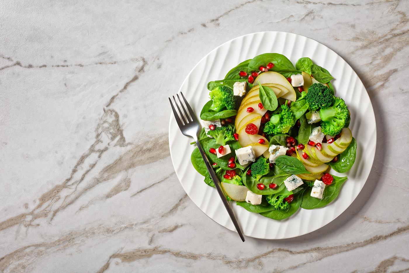 salade aux graines de grenade - recette healthy